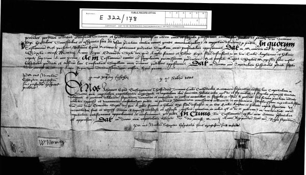 PRO, E22/178 - the last part of the formal deed of surrender, dated 6 March, 1547