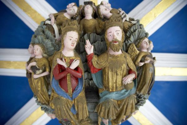 Roof Boss: The Coronation of the Virgin