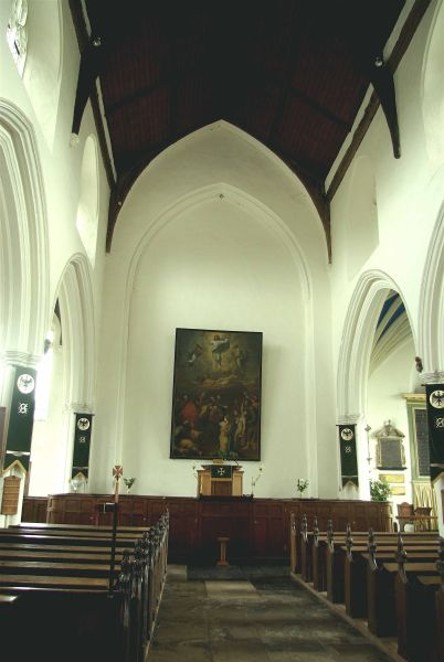 View from the nave to the chancel as it appears today