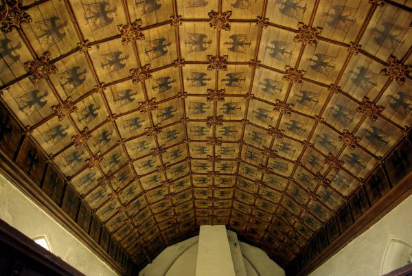 Photograph of The 'Eagle' ceiling in the new chancel. Photographer: C. Bonfield
