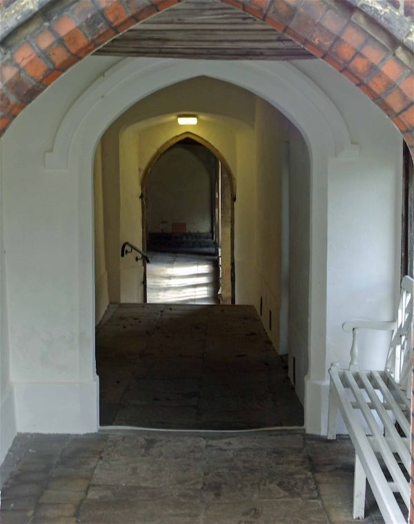 Photograph of a corridor inside the Great Hospital